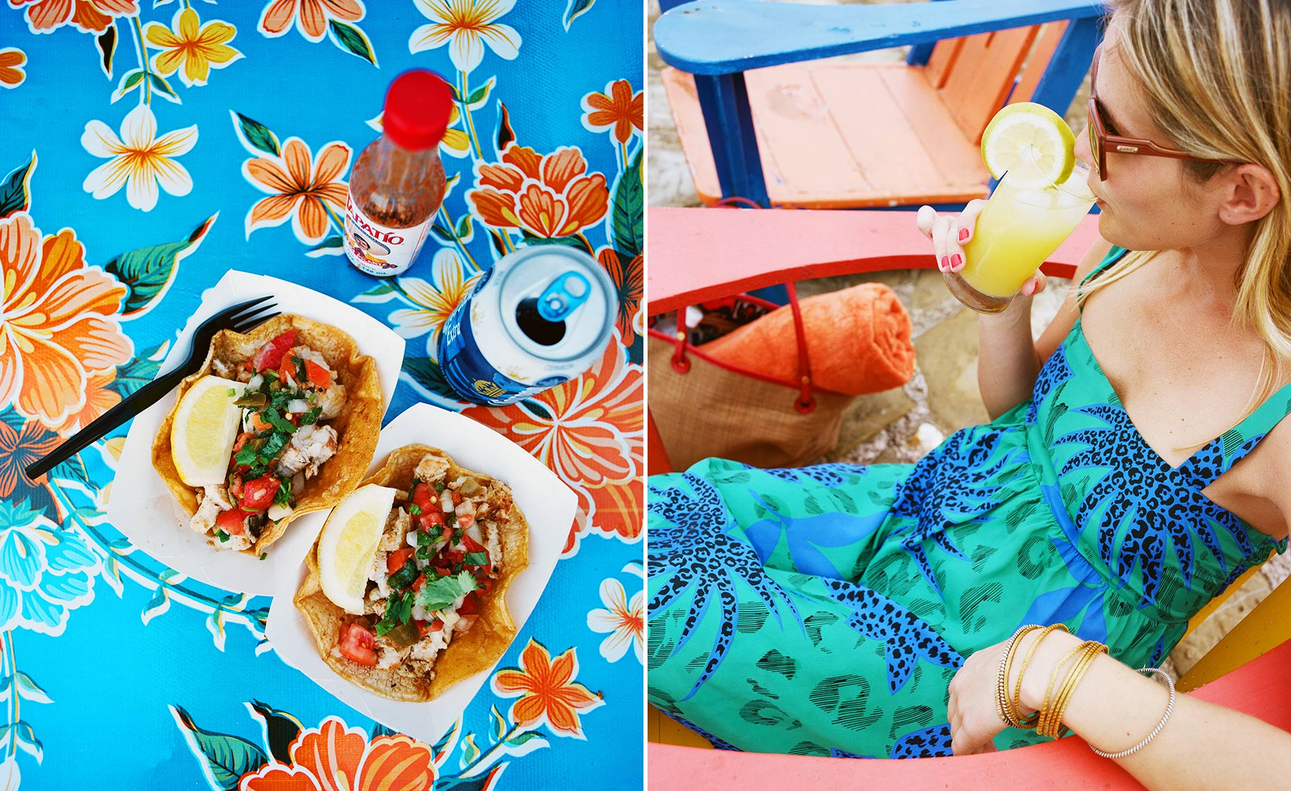 tacos tropical mexican mexico food drink summer dress girl